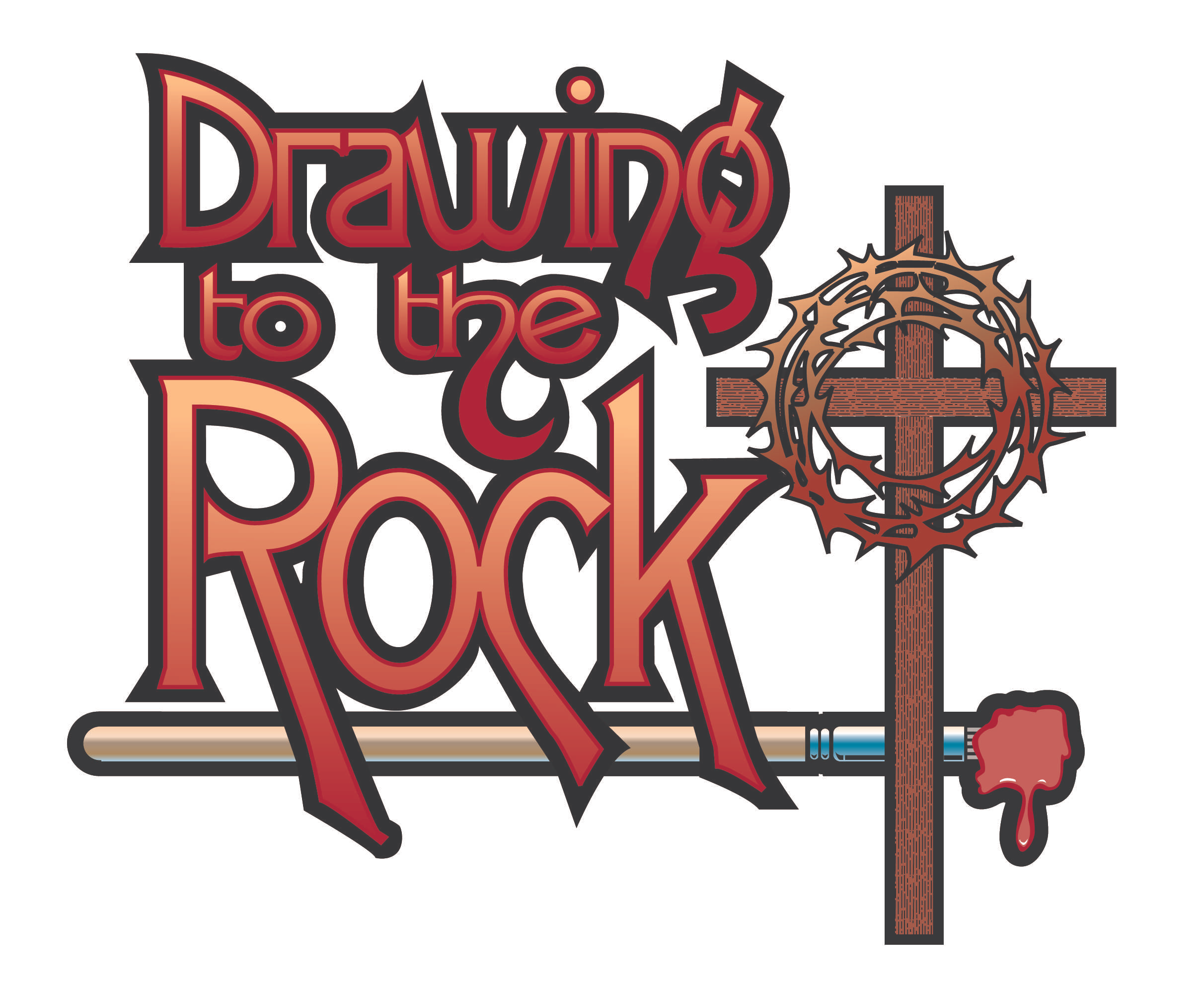 Drawing to the Rock logo